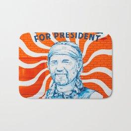 Willie For President Bath Mat