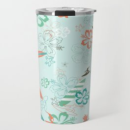 Surfs Up Blue Travel Mug