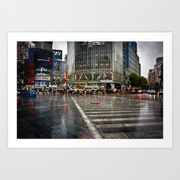 Shibuya Crossing Art Print