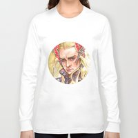 thranduil Long Sleeve T-shirts featuring Thranduil by Giulia Colombo