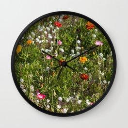Field of Wild Flowers Wall Clock