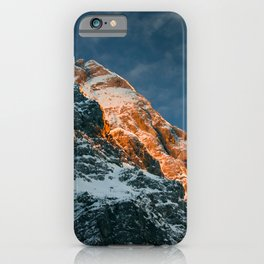 Glowing mountain at sunset iPhone Case