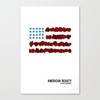 american beauty Canvas Prints featuring American Beauty by SG Posters