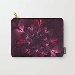Flower In Bordo Carry-All Pouch