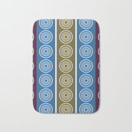 Purple Cornflower Pattern Bath Mat