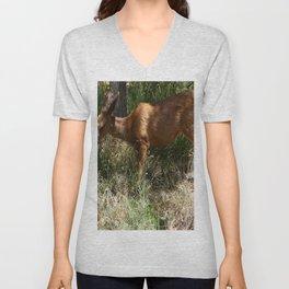 Mule Deer At Zion Park Unisex V-Neck
