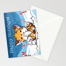 Happy Holidays From Little Fox And Bun Stationery Cards