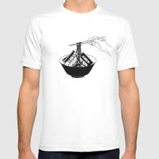 Enjoy Your Meal MEDIUM White Mens Fitted Tee