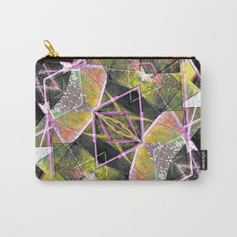 Geometric Grunge Pattern Print Carry-All Pouch