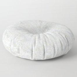 White Apophyllite Close-Up Crystal Floor Pillow