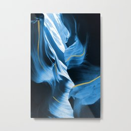 Gold Blue Antelope Canyon Metal Print