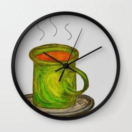 Green mug Wall Clock