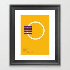 Los Angeles Lakers geometric logo Framed Art Print