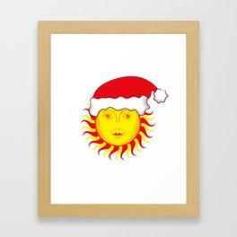 Sun: Merry Christmas Framed Art Print