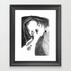 Walking with a Friend Framed Art Print