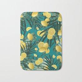 Summer Lemon Twist Jungle #5 #tropical #decor #art #society6 Bath Mat