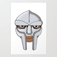 mf doom Art Prints featuring Mf Doom Colored by wa55up