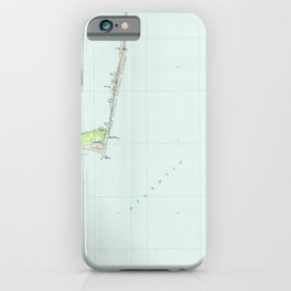 NC Cape Hatteras 162009 1985 topographic map iPhone Case