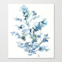 blue fresh leaves plant art Canvas Print