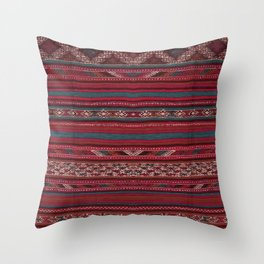 Oriental Moroccan Rug Design C4 Throw Pillow