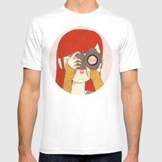 Behind The Lens Mens Fitted Tee White MEDIUM