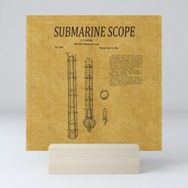 Submarine Scope Patent 1 Mini Art Print