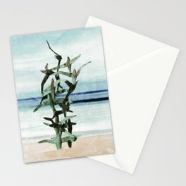 Flying Seagulls. Seascape Abstract Art Stationery Cards