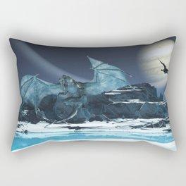 Ice Dragon Rectangular Pillow