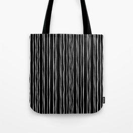 Wide Black Stripe Tote Bag