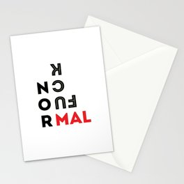 Fuck Normal Stationery Cards