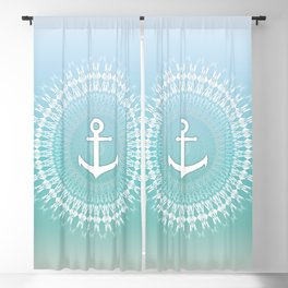 Anchor And Mandala Maritim Blackout Curtain