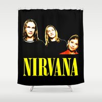 band Shower Curtains featuring Nirvana Band by Rothko