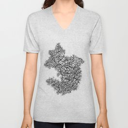 Abstract 65581081 Unisex V-Neck
