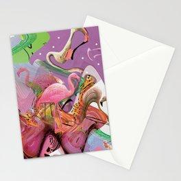FLAMINGO ACID TRIP  Stationery Cards