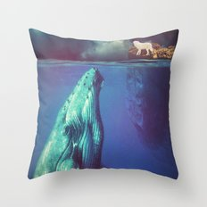 The Whale and the Wolf Throw Pillow