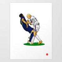 zidane Art Prints featuring Zidane & Materazzi by Just Agung