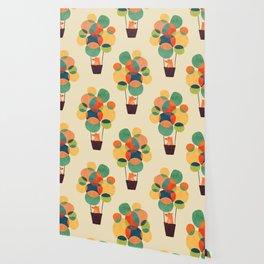 Whimsical Hot Air Balloon Wallpaper