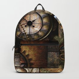 Steampunk, wonderful clockwork with gears Backpack