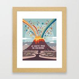 My creative power Framed Art Print