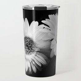 Flowers in Black and White - Nature Vintage Photography Travel Mug