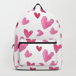 Be my valentine blush pink vector romantic heart pattern Backpack