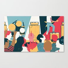 Crowd - (My Dad Used To Be So Cool) Canvas Print
