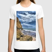 portugal T-shirts featuring Portugal beach hdr by Brian Raggatt