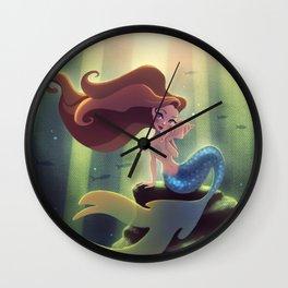 Mermaid With Seashell Wall Clock