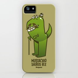 Mustachio Saurus Rex iPhone Case