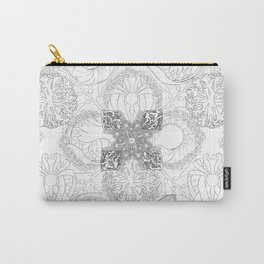 The Ocean's, Black and White Carry-All Pouch