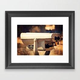 Lakeside Panoramic Visor Framed Art Print