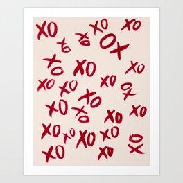Lots of kisses Art Print