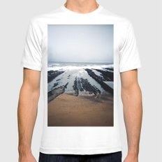 st.andrews White MEDIUM Mens Fitted Tee