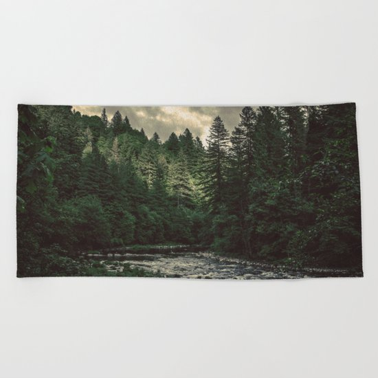 Pacific Northwest River Beach Towel